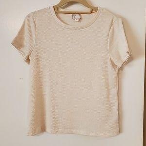 Anthropologie Shimmering Tshirt